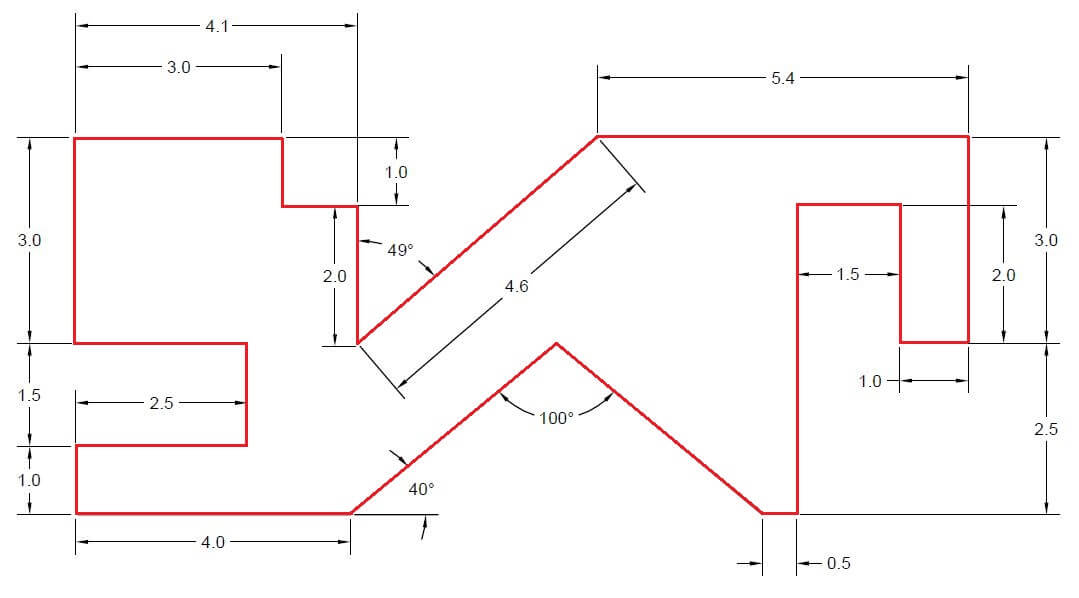 Drawing Lines With Angles In Autocad : Days of d autocad exercises cad