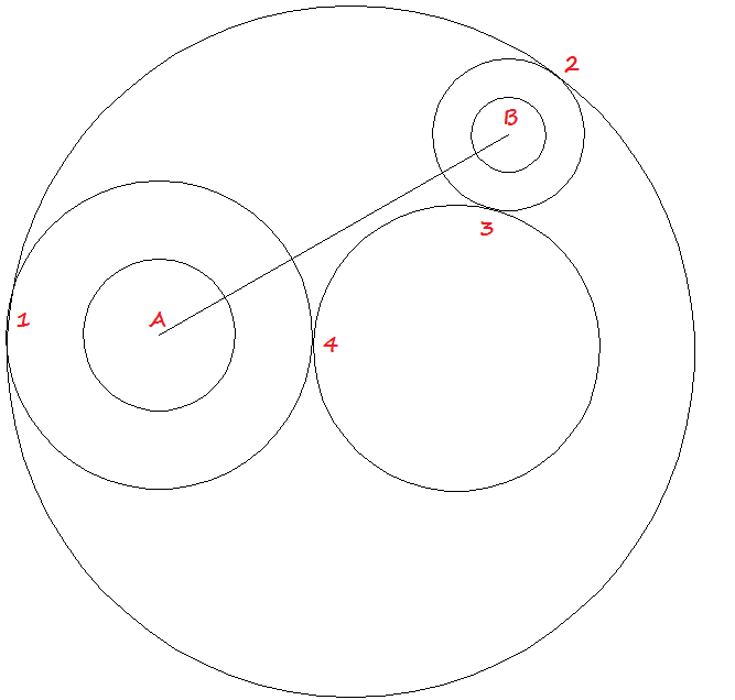 create a circle tangent in autocad