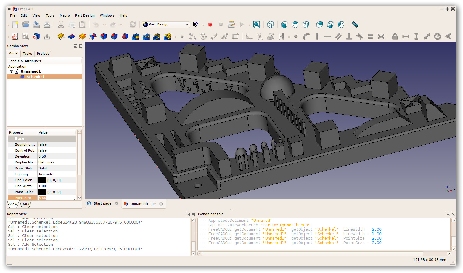 Freecad Online modeling program