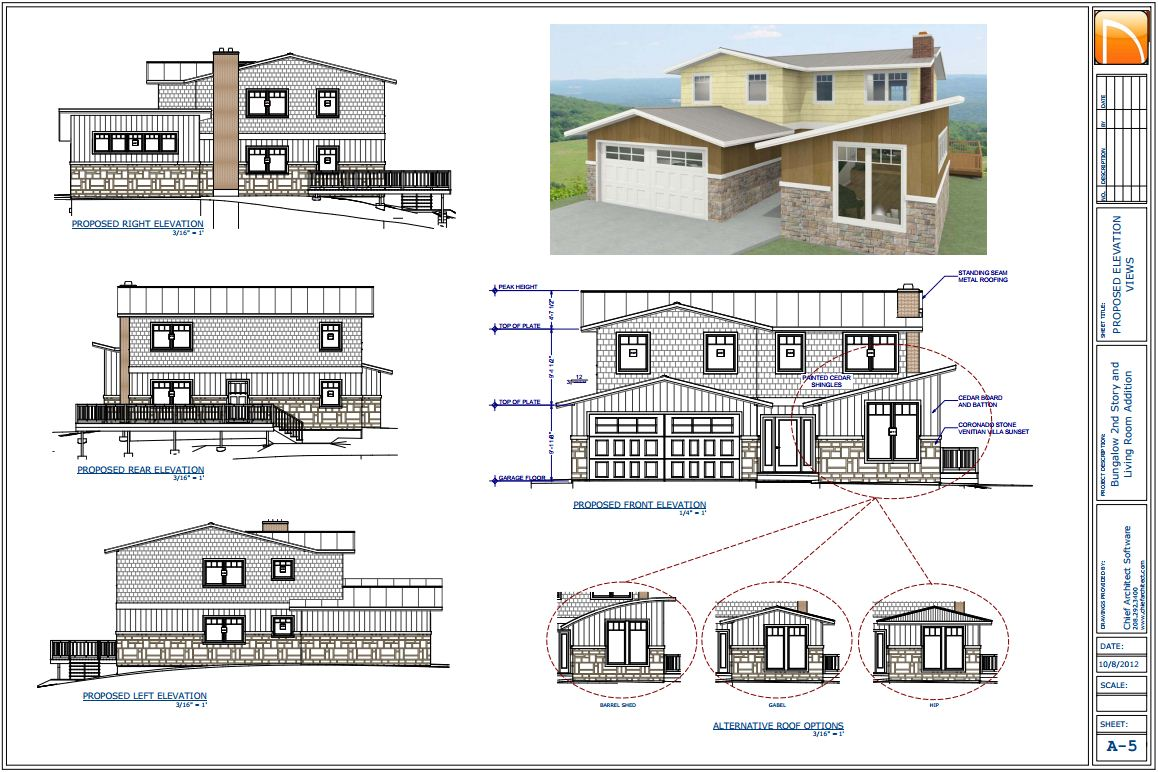 the chief architect is a home construction and design software built