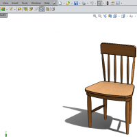 chair model from assembly
